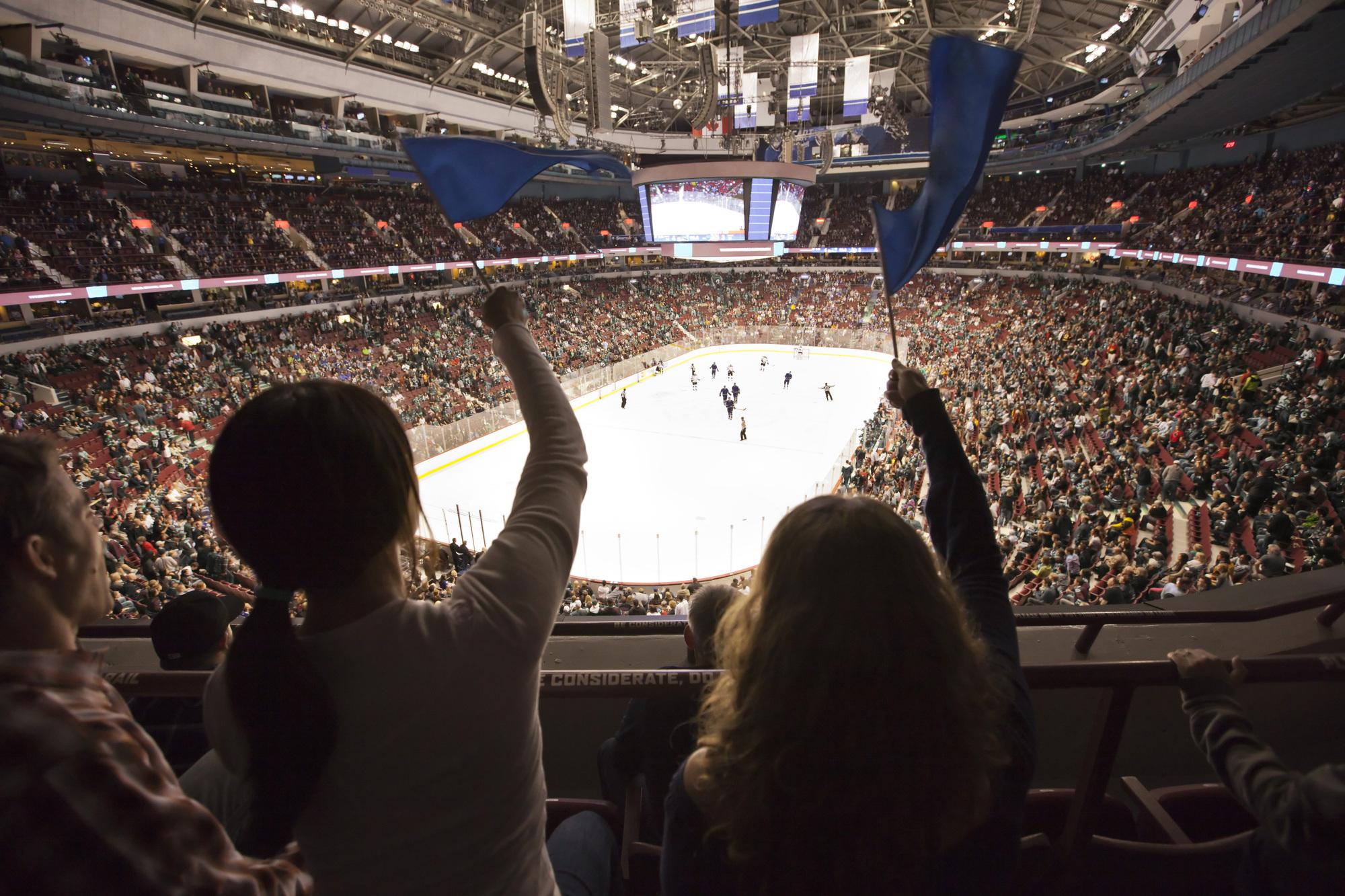 partir au Canada pour voir un match de Hockey